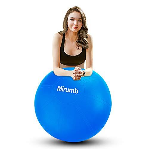Mirumb Gymnastikball, Anti Burst Gymnastikball 75CM 65CM 55CM mit Pumpe Pilates Ball Sitzball für Yoga,...