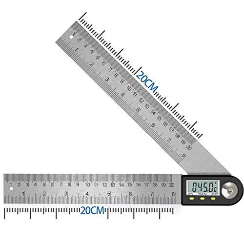 Winkelmesser Digital Winkellineal mit LCD-Anzeige Edelstahl Winkelmessung für Holzarbeiten Heimarbeit...