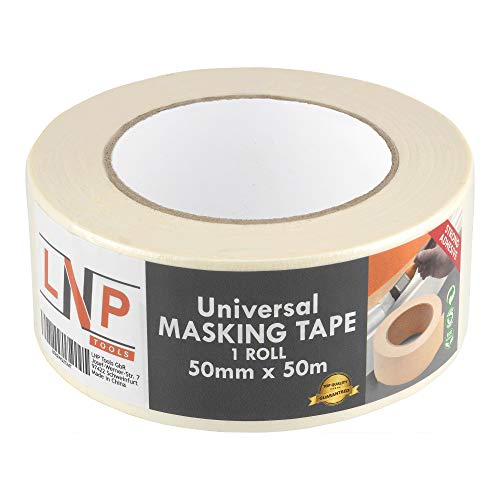 LNP Tools Malerkrepp 50mm x 50m (Extra Stark) Kreppband 1er Pack für Malerarbeiten