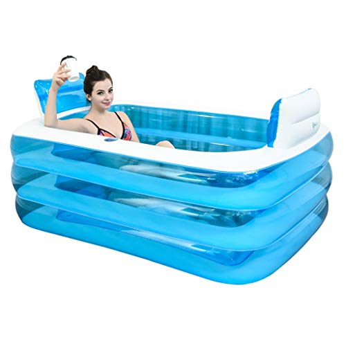Aufblasbare Pools Aufblasbare Badewanne Spa Badewanne Verdickte Erwachsene Badewanne Strandbadewanne Barrel...