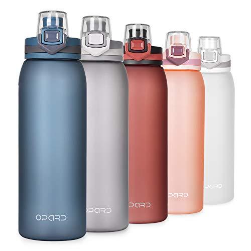 Opard Trinkflasche Sport 900ml-Wasserflasche aus Tritan, BPA-Frei, Auslaufsicher Sportflasche für Kinder,...