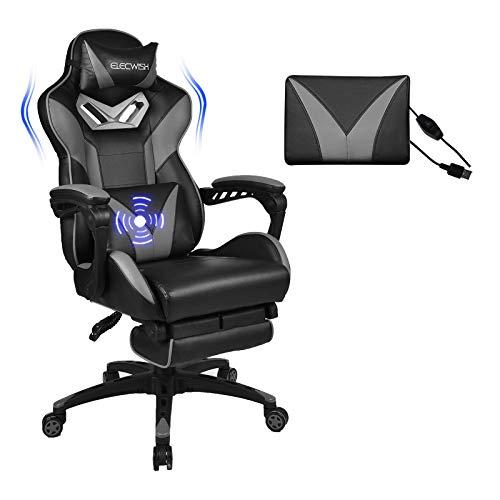 YU YUSING Massage Racing Gaming Stuhl Bürostuhl Ergonomisch Sportsitz höhenverstellbarer Computerstuhl...
