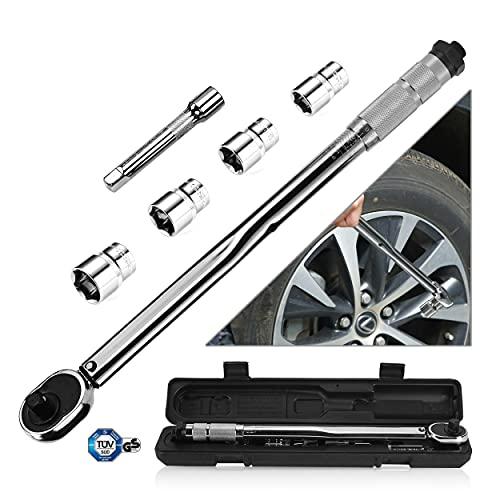 ebasic Drehmomentschlüssel Reparatur Tool Drehmoment Schlüssel 40-210 Nm 1/2' Radmuttern inkl mit...