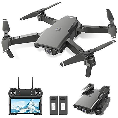 tech rc Drohne mit Kamera HD 1080P FPV 3D Faltbare RC Drone mit 2 Akku 24 Minuten Optische Flow Positionierung...