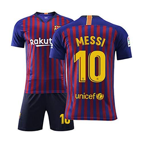 Herren Fußball Trikot Fußballuniform - # 10 Lionel Messi Barcelona Trikot, Alle Größen Kinder Erwachsene...