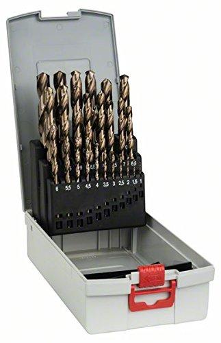 Bosch Professional 25tlg. Metallbohrer-Set HSS-Cobalt ProBox (für Edelstahl, Zubehör Bohrschrauber)