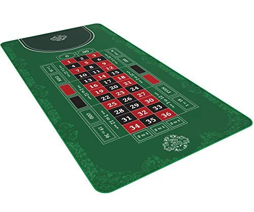 Bullets Playing Cards Roulette Matte in 180 x 90 cm - Tischunterlage fr echtes Casino-Feeling