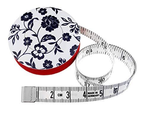 hoechstmass Balzer 80244d-s Rollmaßband rollfix Dekor Blumen, 150 cm / 60 Zoll, Größe 5 cm Maßband, ABS,...