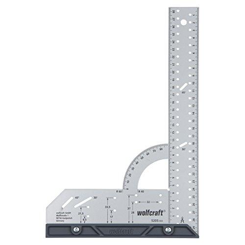 Wolfcraft Universalwinkel 5205000 / Winkelmesser mit 300 mm Schenkellänge zum präzisen Anreißen & Zeichnen...