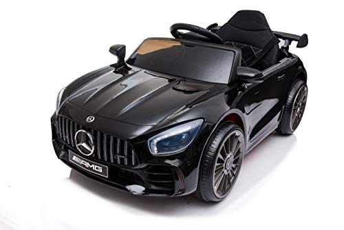 Zellerfeld Lizenz Elektro Kinderauto Mercedes GTR AMG 2 Elektro-Motoren MP3 USB MicroSD Akku Anzeige...