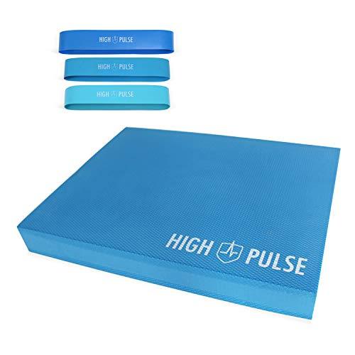 High Pulse® XXL Balance Pad inkl. 3X Fitnessbänder + Poster – Balancekissen für EIN verbessertes...
