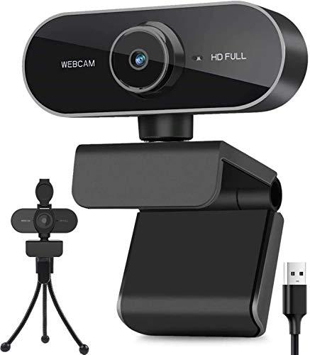 BENEWY HD 1080P Webcam mit Mikrofon und Stativ, PC Laptop Desktop USB 2.0 Full HD Webkamera für Video Chat...