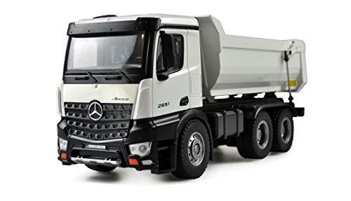 Amewi 22413 Benz Mercedes LKW Kipper PRO Metall 2,4GHz RTR weiß