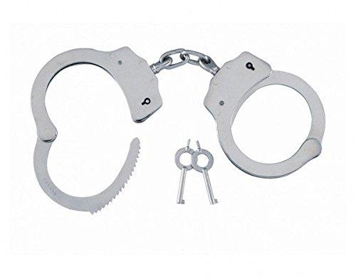 kh security Handschelle Polizei-Standard, silber, 240105