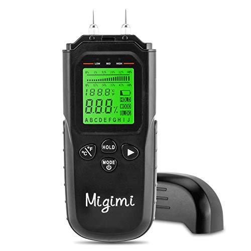 Migimi Feuchtigkeitsmessgerät, Feuchtigkeits-Detector mit LCD-Display Digitales Feuchtigkeitsmesser für Holz...
