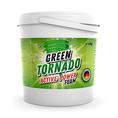 Green Tornado - Active-Power Foam | WC Reiniger mit Aktivsauerstoff - Schaumreiniger, Abflussreiniger und...
