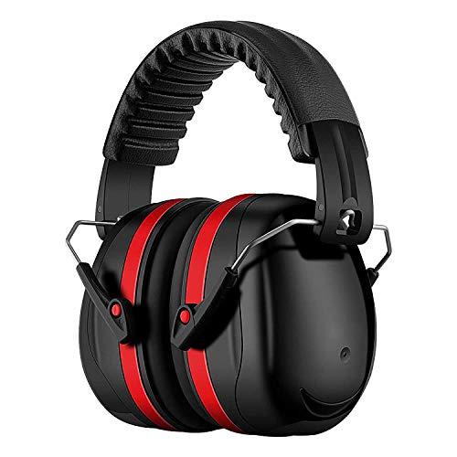 Homitt Gehörschutz Ohrenschützer mit 34dB SNR, lärmschutzkopfhörer erwachsene mit Tragbare Tasche, Faltbar...