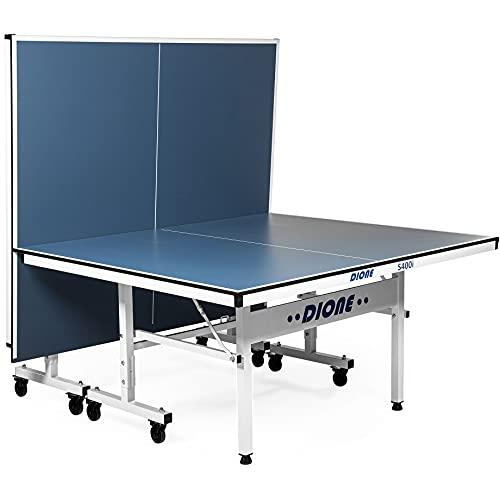 Dione Tischtennisplatte School Sport 400 kompakt Indoor Blau TT-Platte rollbarer und klappbar Tischtennistisch...