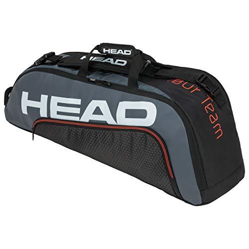 HEAD Unisex-Erwachsene Tour Team 6R Combi Tennistasche, schwarz/grau