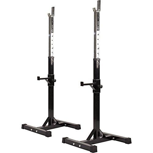 GORILLA SPORTS® Hantelständer - Höhenverstellbar, 52 x 53 x 105-172 cm, bis 400 kg Belastbar, aus Stahl -...