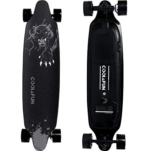 RCB Longboard Elektromotor Skateboard E Skateboard, mit Fernbedienung, Skateboard-Design 4-Rder, langlebige...