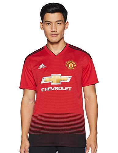 adidas Herren Kurzarm Trikot Manchester United FC Home, Real Red/Black, XL, CG0040