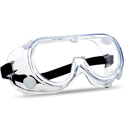 SuperMore Anti-Beschlag-Schutzbrille, klare Gläser, weites Sichtfeld, verstellbar, chemischer Spritzschutz,...