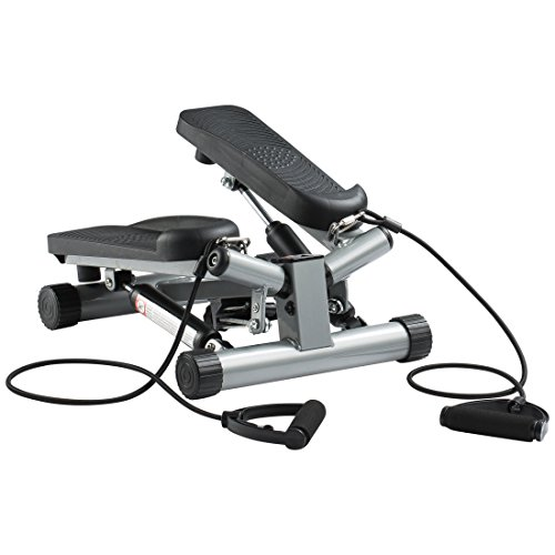 Ultrasport Up-Down-Stepper mit Trainingsbändern, Mini-Fitnessgerät inkl. Trainingscomputer mit vielen...