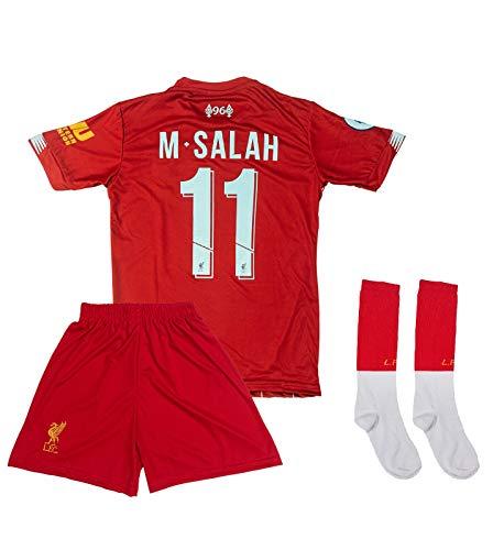 ATB Liverpool 2019/2020#11 Salah Heim Kinder Fußball Trikot und Shorts mit Socken Kinder und Jugend Größe