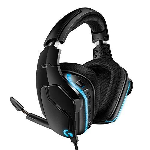 Logitech G635 kabelgebundenes Gaming-Headset mit LIGHTSYNC RGB, 7.1 Surround Sound, DTS Headphone:X 2.0, 50 mm...