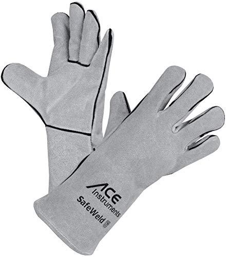 ACE SafeWeld Geftterter Schweierhandschuh EN 388 & EN 12477 - Schutzhandschuhe vor Funkenflug, Wrme & Hitze,...