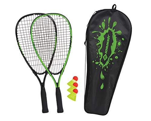 Schildkröt Speed-Badminton Set, 2 handliche Aluminium-Rackets, Länge 54,5cm, 3 windstabile Bälle, perfekt...