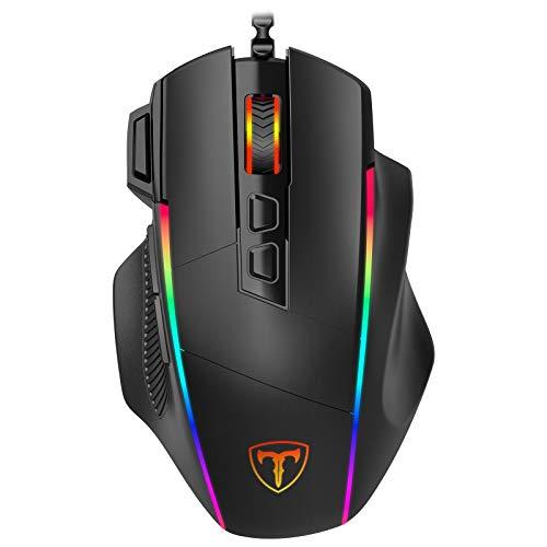 Gaming Maus, Ergonomisch RGB Maus, Holife 8000DPI & 8 programmierbar Tasten, Gamer Mouse mit komfortable...