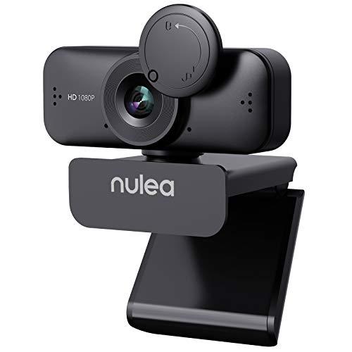 Nulea C902 Webcam mit Mikrofon für PC/Laptop, HD 1080P Webcam mit Abdeckung für Video Streaming,...