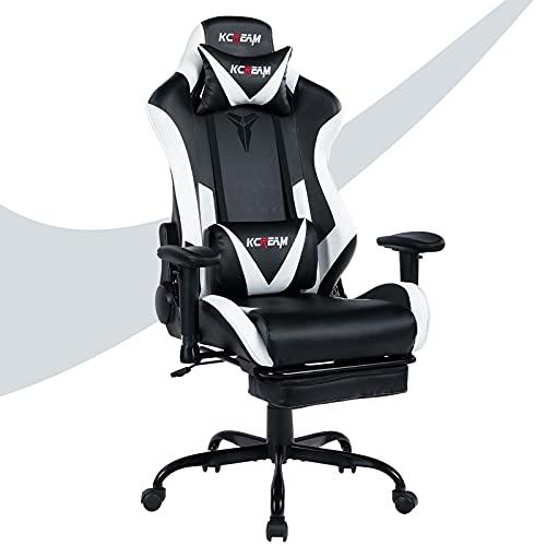 KCREAM Gaming-Stuhl Bürostuhl Größe hohe Rückenlehne ergonomischer Rennsitz mit Massage...