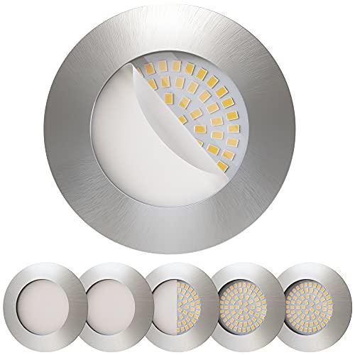 Scandinavian home 6er Set LED Einbaustrahler 60mm - 70mm I Badezimmer geeignet I warmweiß 230V CRI 90 5W...