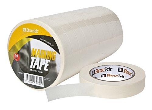 10 St. Kreppband   Malerkrepp   Abklebeband - 48m Lang - 24mm Briet, Hohe Qualität, Abklebeband Maler,...