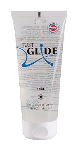 Just Glide Anal Gleitgel 200 ml - Natürliches Gleitmittel auf Wasserbasis für sie und ihn, Gleitcreme für...