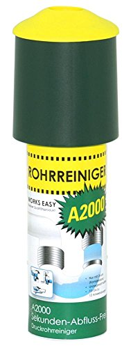 purclean Rohrreiniger A2000 mit 100 ml - Der Abflussreiniger macht Pümpel, Pömpel u. Rohrreinigungsspirale...