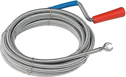 Meister Rohrreinigungswelle Ø 6 mm x 3 m - Flexible Spirale mit Kralle - Umweltfreundliche Lösung für...