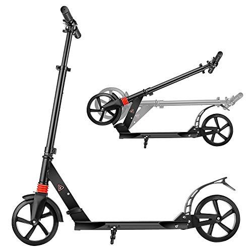 YUEBO Tretroller Erwachsene Kickroller Roller Kinder ab 10 Jahre Cityroller Big Wheel Scooter...