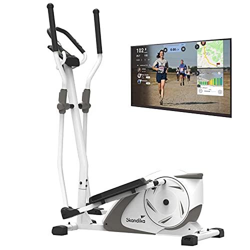 skandika Crosstrainer Fint   Heimtrainer mit Bluetooth, App-Steuerung (Kinomap), Handpulssensoren   9kg...