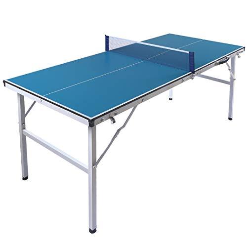 Top-A HLC 5FT Tischtennisplatte klappbar Professionelle Tischtennistisch Tischtennis Platte mit Netz Portable...