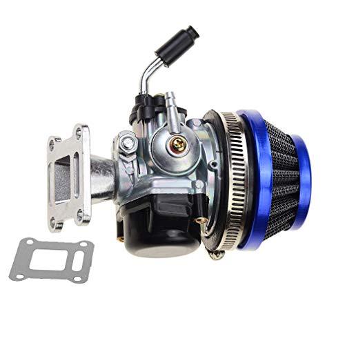 GOOFIT Tuning Vergaser mit Luftfilter für 2 Stroke 47cc 49cc Mini Pocket Bike ATV Gruppe Blau