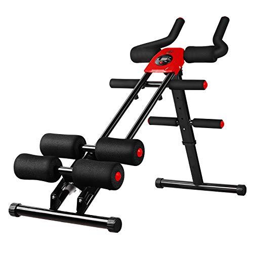 femor Bauchtrainer, Profi AB Trainer, Bauchmuskeltrainer mit Knieauflage, klappbares Fitnessgerät mit...