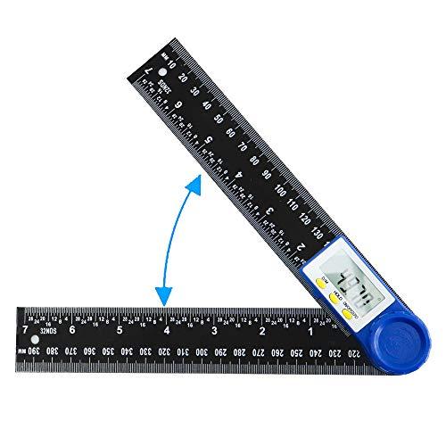 Winkelmesser Digital Winkelschmiege mit LCD-Anzeige, Lineal mit Feststellfunktion und Automatische...