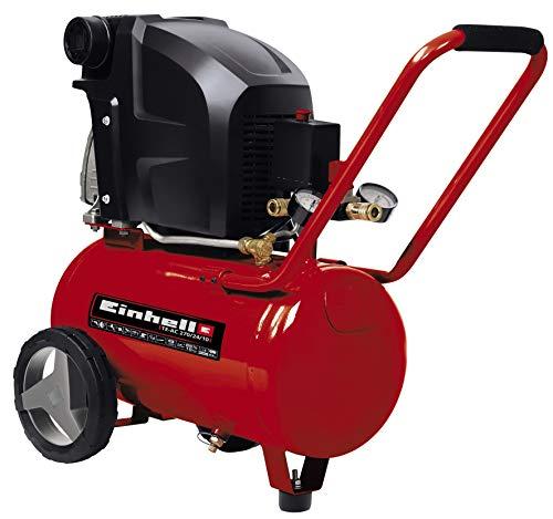 Einhell Kompressor TE-AC 270/24/10 (1.800 W, max. 10 bar, inkl. Druckminderer, 24 l-Tank, 2 Manometer & 2...