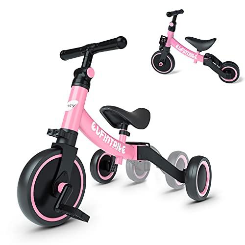 besrey 5 in 1 Laufräder Laufrad Kinderdreirad Dreirad Lauffahrrad Lauflernhilfe für Kinder ab 1 Jahre bis 4...