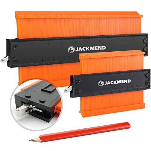 JACKMEND 2-in-1 Konturenlehre - 5 & 10-Zoll, mit Metallschloss - Vervielfältigungslehre, Messwerkzeug für...