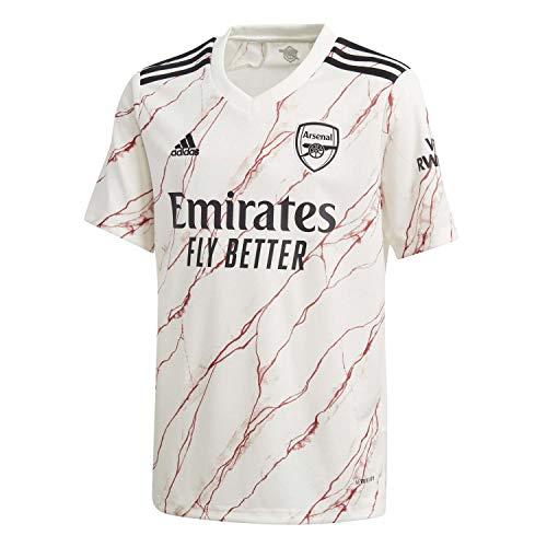 adidas Kinder Trikot Arsenal FC Away Jersey 2020/21, Cloud White/Black, 176, FH7812